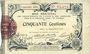 Billets Aisne et  Ardennes - Bon régional, Laon, billet, 50 cmes 19.9.1915, 5e série