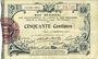 Billets Aisne et  Ardennes - Bon régional, Laon, billet, 50 cmes 19.9.1915, 6e série