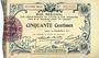 Billets Aisne et  Ardennes - Bon régional, Laon, billet, 50 cmes 19.9.1915, 9e série