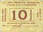 Billets Alais = Alès (30). Cie des Produits Chimiques d'Alais & Camargue. Billet. 10 cmes