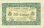 Billets Alençon et Flers, Orne (61). Billet. 50 cmes 10.8.1915, série G-1