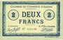 Billets Amiens (80). Chambre de Commerce. Billet. 2 francs 1915