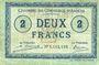 Billets Amiens (80). Chambre de Commerce. Billet. 2 francs 1920