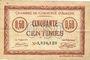 Billets Amiens (80). Chambre de Commerce. Billet. 50 cmes 1915