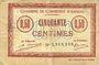 Billets Amiens (80). Chambre de Commerce. Billet. 50 cmes 1920