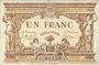 Billets Angers (49). Ville. Billet. 1 franc novembre 1917, série L