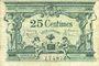 Billets Angers (49). Ville. Billet. 25 cmes juillet 1915, série C3