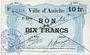 Billets Aniche (59). Ville. Billet. 10 francs 1915, 2e série