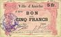 Billets Aniche (59). Ville. Billet. 5 francs 1915, 2e série