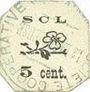 Billets Annonay (07). Coopérative La Laborieuse. Billet. 5 cmes
