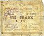 Billets Auchy-les-Orchies (59). Commune. Billet. 1 franc 15.11.1914 (émission 1914)