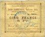 Billets Auchy-les-Orchies (59). Commune. Billet. 5 francs 15.11.1914 (émission 1915)