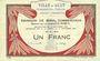 Billets Ault (80). Ville. Billet. 1 franc 15.9.1914