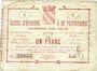Billets Avesnes (59). Caisse d'Epargne et Prévoyance. Billet. 1 franc, série 1