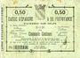 Billets Avesnes (59). Caisse d'Epargne et Prévoyance. Billet. 50 cmes n. d.