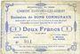Billets Avesnes-les-Aubert (59). Commune. Billet. 2 francs 31.8.1915