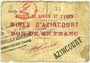Billets Azincourt (62). Sté de Denain & d'Anzin. Mines d'Azincourt. Billet. 1 franc