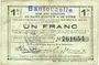 Billets Bantouzelle (59). Commune. Billet. S.Q.G., 1 franc 8.8.1916