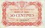 Billets Bar-le-Duc (55). Chambre de Commerce. Billet. 50 cmes 1.9.1917