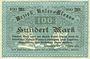 Billets Bas-Rhin (67). Bezirk Unter-Elsass. Billet. 100 mark Strasbourg, 25.10.1918