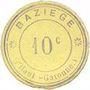 Billets Baziège (31). Mairie. Billet. 10 centimes
