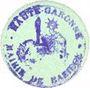 Billets Baziège (31). Mairie. Billet. 5 centimes