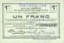 Billets Bellenglise (02). Commune. Billet. S.Q.G., 1 franc  8.8.1916