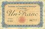 Billets Besançon (25). Chambre de Commerce. Billet. 1 franc 2.8.1915, série N 164