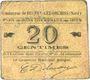 Billets Beuvry-Les-Orchies (59). Commune. Billet. 20 cmes 1915