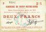 Billets Boiry-Notre-Dame (62). Commune. Billet. 2 francs 31.1.1915