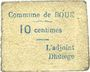 Billets Boué (02). Commune. Billet. 10 centimes
