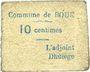 Billets Boué (02). Commune. Billet. 10 centimes