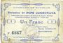 Billets Bourlon (62). Commune. Billet. 1 franc 7.7.1915