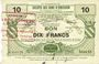 Billets Bousies (59). Société des Bons d'Emission. Billet. 10 francs, 5e émission 4.11.1917, série 10
