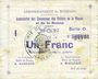 Billets Braux (08). Arrondissement de Mézières. Billet. 1 franc, série O, 18.11.1914 et 19.1 et 25.3.1915