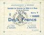 Billets Braux (08), Arrondissement de Mézières, billet, 2 francs, série T, 18.11.1914 et 19.1 et 25.3.1915