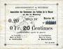 Billets Braux (08). Arrondissement de Mézières. Billet. 20 cmes, série K, 18.11.1914 et 19.1.1915