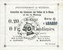 Billets Braux (08). Arrondissement de Mézières. Billet. 20 cmes, série Q, 18.11.1914 et 19.1 et 25.3.1915