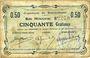 Billets Buironfosse (02). Commune. Billet. 50 cmes 25.8.1915
