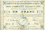 Billets Cagnicourt (62). Commune. Billet. 1 franc, émission 1915, série B