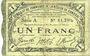 Billets Cambrai (59). Syndicat de Communes de la Région de Cambrai. Billet. 1 franc 10.5.1916, série A
