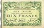 Billets Cambrai (59). Syndicat de Communes de la Région de Cambrai. Billet. 10 francs 10.5.1916, série F
