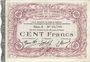 Billets Cambrai (59). Syndicat de Communes de la Région de Cambrai. Billet. 100 francs 10.5.1916, série A