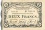 Billets Cambrai (59). Syndicat de Communes de la Région de Cambrai. Billet. 2 francs 10.5.1916, série B