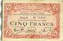 Billets Cambrai (59). Syndicat de Communes de la Région de Cambrai. Billet. 5 francs 10.5.1916, série B