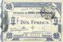 Billets Cambrai (59). Ville. Billet. 10 francs 30.10.1914, 2e série : 2,5 mm