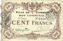Billets Cambrai (59). Ville. Billet. 100 francs 8.1.1916, 1ère série