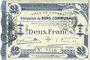 Billets Cambrai (59). Ville. Billet. 2 francs 30.10.1914, 2e série : 2,5 mm