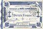Billets Cambrai (59). Ville. Billet. 2 francs 30.10.1914, impression bleu foncé