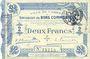 Billets Cambrai (59). Ville. Billet. 2 francs 30.10.1914, impression bleu pâle